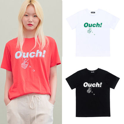 BLANK Tシャツ・カットソー ★BLANK★日本未入荷 韓国 ロゴ 半袖 Tシャツ OUCH T-RD【3色】