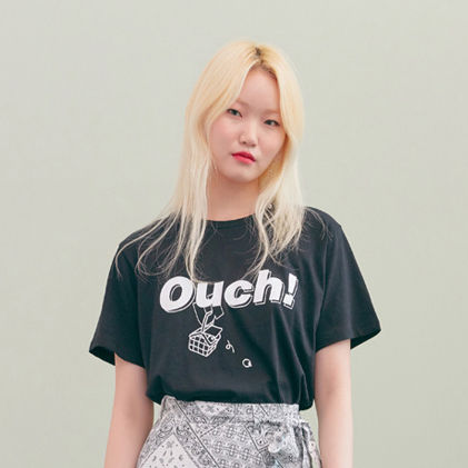 BLANK Tシャツ・カットソー ★BLANK★日本未入荷 韓国 ロゴ 半袖 Tシャツ OUCH T-RD【3色】(2)