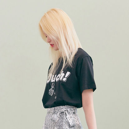BLANK Tシャツ・カットソー ★BLANK★日本未入荷 韓国 ロゴ 半袖 Tシャツ OUCH T-RD【3色】(3)