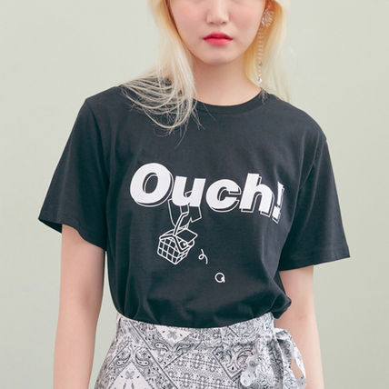 BLANK Tシャツ・カットソー ★BLANK★日本未入荷 韓国 ロゴ 半袖 Tシャツ OUCH T-RD【3色】(4)