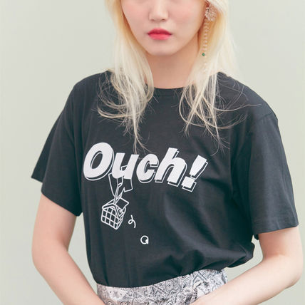 BLANK Tシャツ・カットソー ★BLANK★日本未入荷 韓国 ロゴ 半袖 Tシャツ OUCH T-RD【3色】(5)
