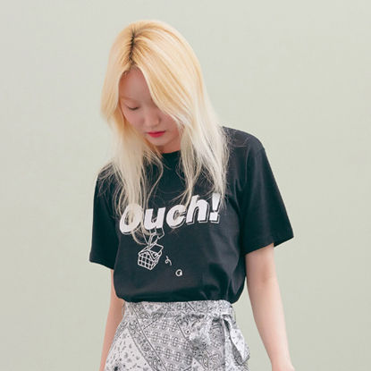 BLANK Tシャツ・カットソー ★BLANK★日本未入荷 韓国 ロゴ 半袖 Tシャツ OUCH T-RD【3色】(6)
