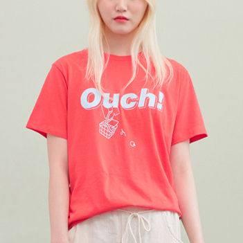 BLANK Tシャツ・カットソー ★BLANK★日本未入荷 韓国 ロゴ 半袖 Tシャツ OUCH T-RD【3色】(9)