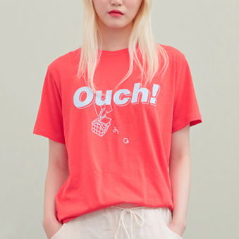 BLANK Tシャツ・カットソー ★BLANK★日本未入荷 韓国 ロゴ 半袖 Tシャツ OUCH T-RD【3色】(11)