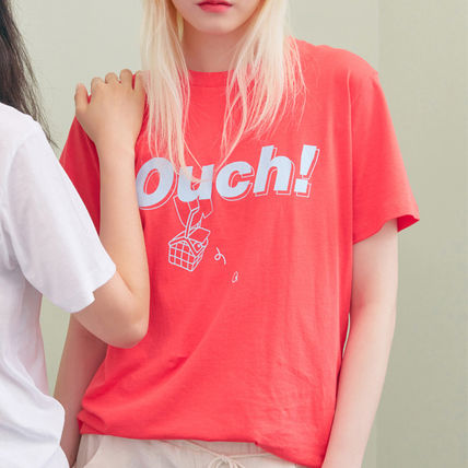 BLANK Tシャツ・カットソー ★BLANK★日本未入荷 韓国 ロゴ 半袖 Tシャツ OUCH T-RD【3色】(12)