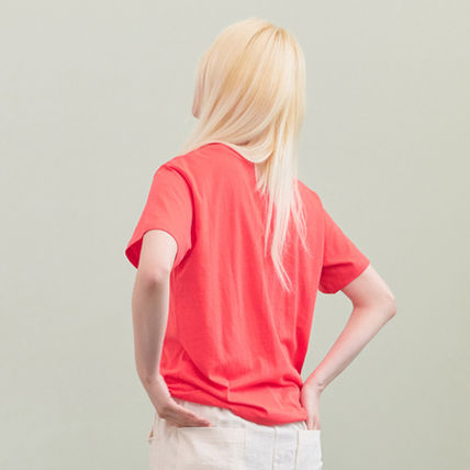 BLANK Tシャツ・カットソー ★BLANK★日本未入荷 韓国 ロゴ 半袖 Tシャツ OUCH T-RD【3色】(13)