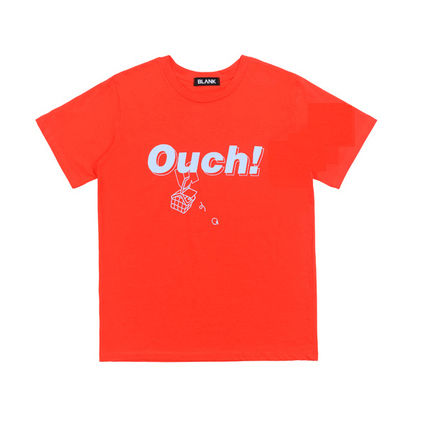 BLANK Tシャツ・カットソー ★BLANK★日本未入荷 韓国 ロゴ 半袖 Tシャツ OUCH T-RD【3色】(14)