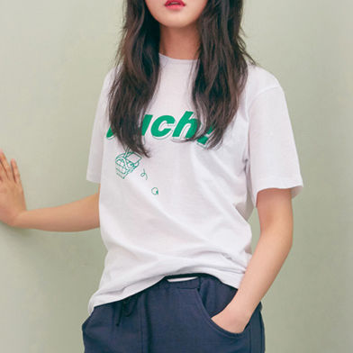 BLANK Tシャツ・カットソー ★BLANK★日本未入荷 韓国 ロゴ 半袖 Tシャツ OUCH T-RD【3色】(17)
