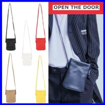 [OPEN THE DOOR]  leather mini string cross bag (5色)/追跡付