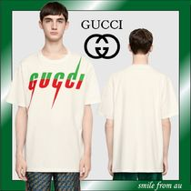 【GUCCI】T-shirt with Gucci Blade print★ビッグロゴ★Tシャツ