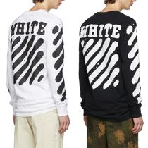 OFF WHITE 19AW Incomplete Spray paint長袖Tシャツ★関税送料込