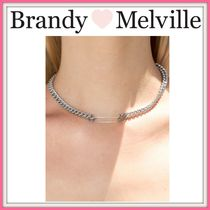 NEW!! ☆Brandy Melville☆ SILVER SAFETY PIN CHAIN CHOKER
