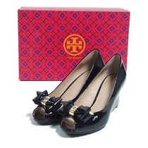 Tory Burch::STACKED BOW WEDGE:US6.5[RESALE]