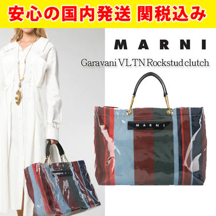 関税送料込国内発送★MARNI★Large striped tote bag