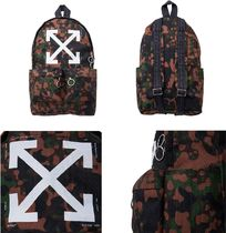 19SS★OFF-WHITE★CAMOUFLAGE CANVAS BACKPACK