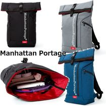 """ManhattanPortage★Reflective Pace Backpack""""ROLL TOP""""♪"""