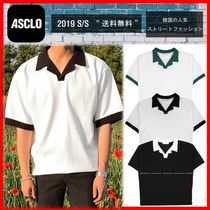 ☆【ASCLOエジュクロ】☆Never Retro Collar T-shirt☆3色☆