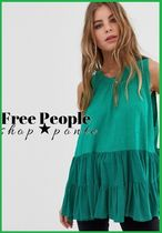 ★Free People Right On Timeプリーツベストトップ★