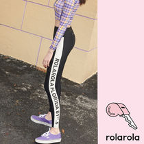 rolarola(ロラロラ)★SIDE LETTERING WATER LEGGINGS BLACK