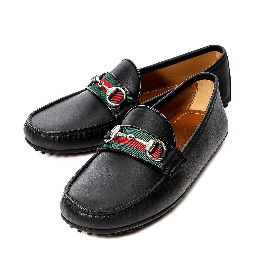 GUCCI Driving Shoes Leather Loafers