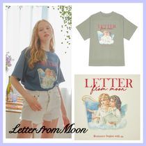 【LETTEER FROM MOON】ANGEL LOGO EMBROIDERY T-SHIRTS