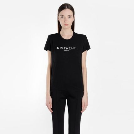 GIVENCHY Tシャツ・カットソー ★関税込/追跡発送 GIVENCHY★ロゴ Tシャツ★BLACK★(2)