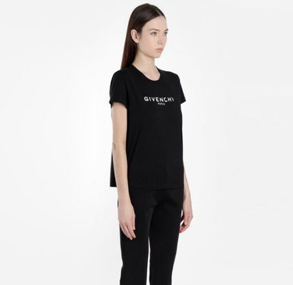 GIVENCHY Tシャツ・カットソー ★関税込/追跡発送 GIVENCHY★ロゴ Tシャツ★BLACK★(3)