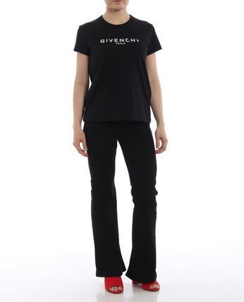 GIVENCHY Tシャツ・カットソー ★関税込/追跡発送 GIVENCHY★ロゴ Tシャツ★BLACK★(6)