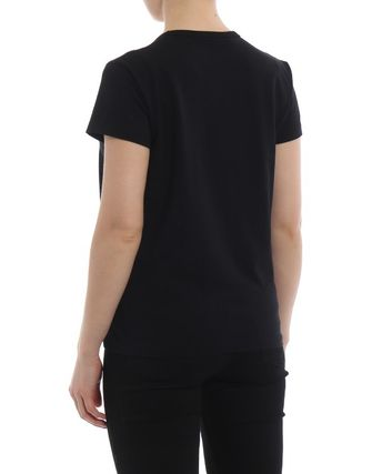 GIVENCHY Tシャツ・カットソー ★関税込/追跡発送 GIVENCHY★ロゴ Tシャツ★BLACK★(8)