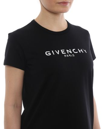 GIVENCHY Tシャツ・カットソー ★関税込/追跡発送 GIVENCHY★ロゴ Tシャツ★BLACK★(9)