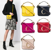 C456 CHLOE C MINI BAG IN CROCO EMBOSSED LEATHER