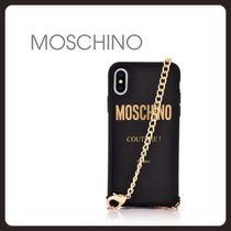 【Moschino】ケース iPhone X / XS / XR / XS MAX チェーン 黒