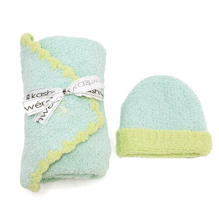 kashwere キッズ・ベビー・マタニティその他 KASHWERE BB-67-51-30 ブランケット キャップ BABY BLANKET SOLID & CAP