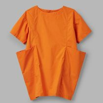 """COS(コス) キッズワンピース・オールインワン """"COS KIDS"""" COTTON DRESS WITH LARGE POCKETS ORANGE"""