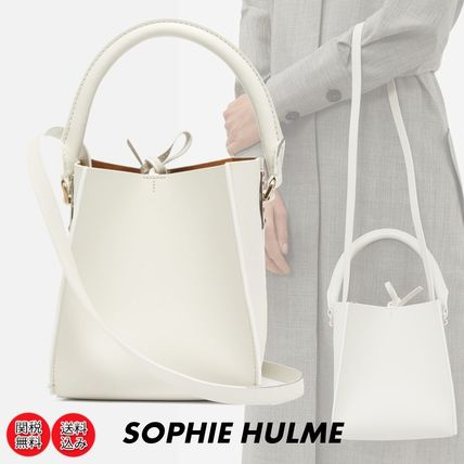 SOPHIE HULME*Albion Cube ナノ レザーバケットバッグ