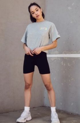 CHAMPION Tシャツ・カットソー NEW!! 19SS!!☆Champion☆ Rainbow Embroidered Cropped T-Shirt(4)
