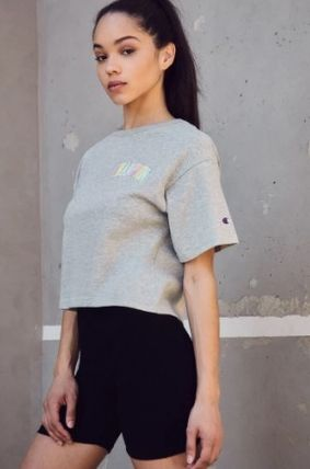 CHAMPION Tシャツ・カットソー NEW!! 19SS!!☆Champion☆ Rainbow Embroidered Cropped T-Shirt(6)