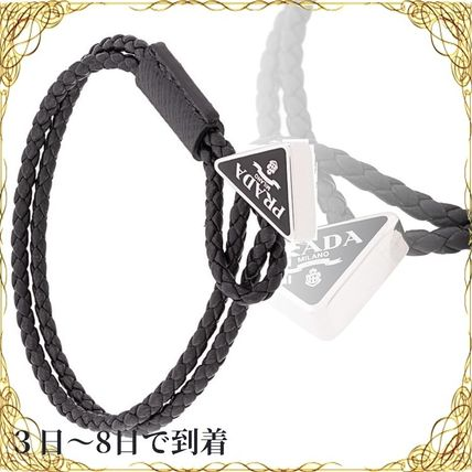 関税込◆Prada braided leather bracelet