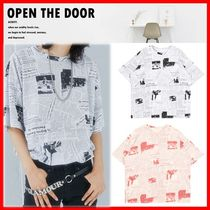 ☆韓国の人気☆【OPEN THE DOOR】☆Newspaper 1/2 T☆2色☆