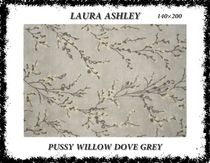 ★完売必至/LAURA ASHLEY/Pussy Willow Dove Grey Rug/140×200