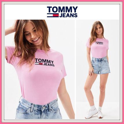 Tommy Hilfiger Tシャツ・カットソー NEW!! 19SS!!【Tommy Hilfiger】Tommy Jeans Logo T-Shirt