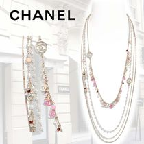 【SS19】CHANEL*ネックレス コスチュームパール*gold pink red