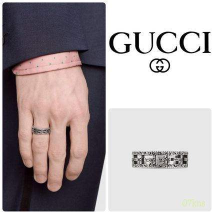 【GUCCI 】Silver ring with Square G