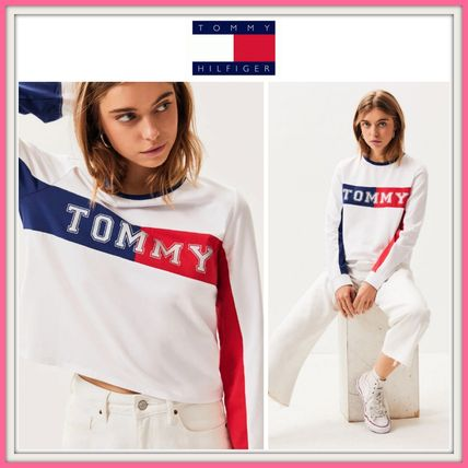 Tommy Hilfiger Tシャツ・カットソー NEW!! 19SS!【Tommy Hilfiger】Colorblock Long Sleeve T-Shirt