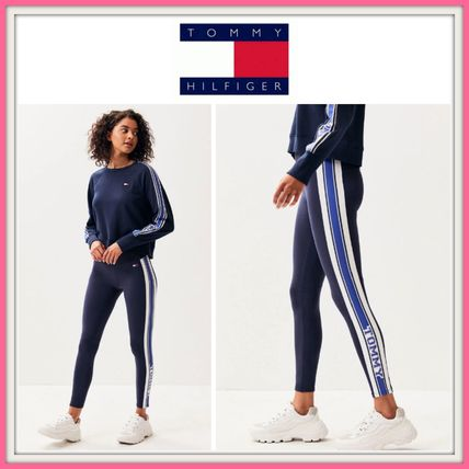 Tommy Hilfiger ボトムスその他 NEW!! 19SS!【Tommy Hilfiger】Logo Stripe Leggings