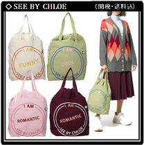 【SEE BY CHLOE】ロゴ キャンバス トートバッグ 4色選 (関/送込)