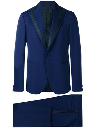 VERSACE スーツ 関税込◆single breasted jacquard detailed suit(4)