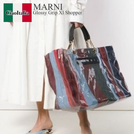 Marni glossy grip xl shopper