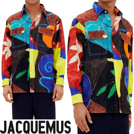 【Jacquemus】大人気☆ ペイント プリント シャツ Multi-color