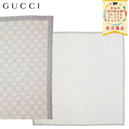 GUCCI キッズ・ベビー・マタニティその他 【正規品保証】GUCCI★19/20秋冬★KID´S GG SUPREME BLANKET